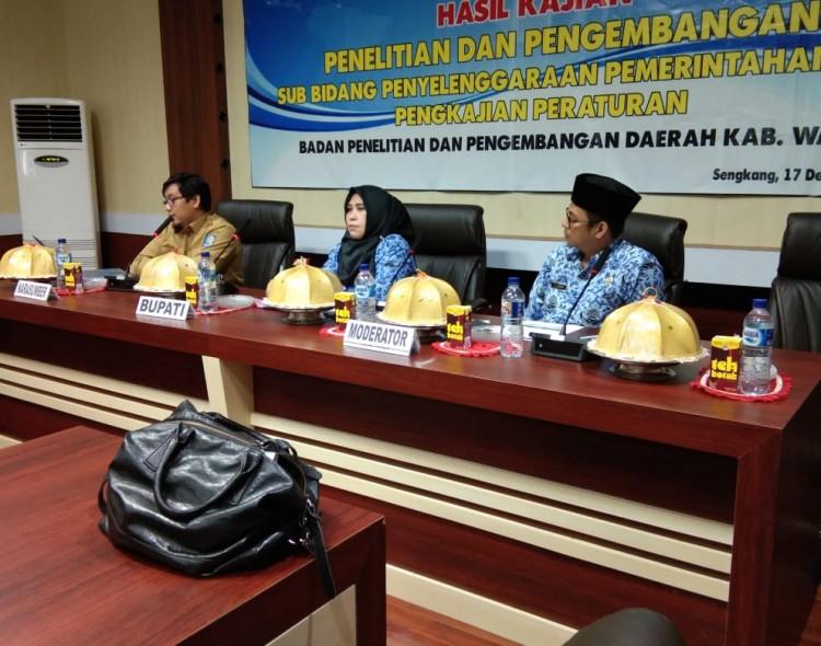 Seminar Hasil Kajian Penelitian dan Pengembangan Sub Bidang Penyelenggaraan Pemerintahan dan Pengkajian Peraturan